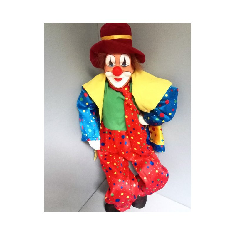 Clown 85cm bunt Poly