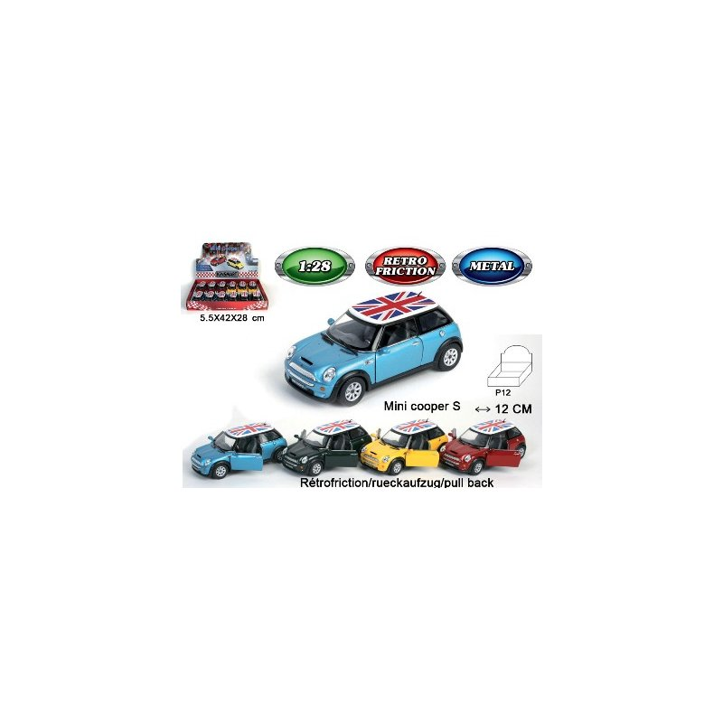 Auto Metall mini Cooper friktion Display 12cm
