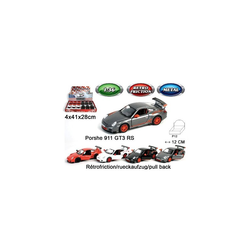 Auto Metall Porsche 911  friktion im Display 12cm