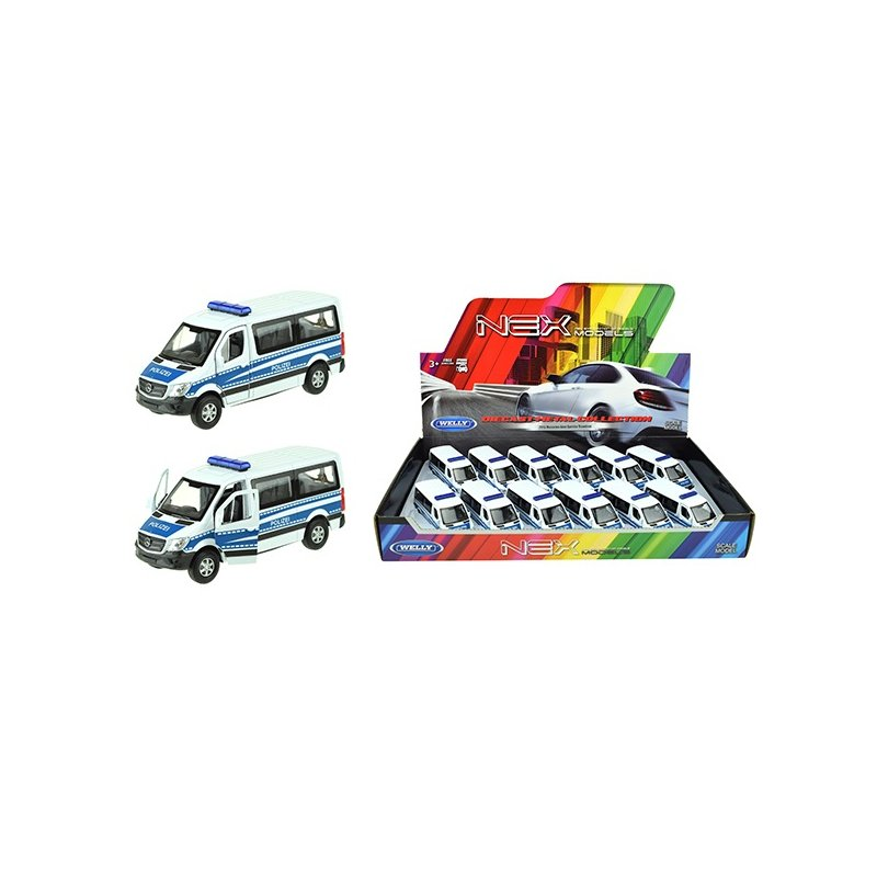 WELLY Mercedes Sprinter Polizei [12pcs. DB] 4,5*5*11,5 cm